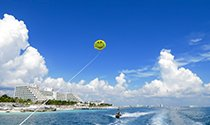 the safest and most memorable parasail experience in Cancun