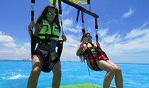 la más segura y memorable experiencia de parasail en Cancún