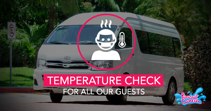 Temperature checks for travelers and staff