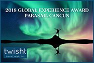 2018 Global experience award Parasail Cancun